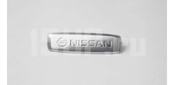 Эмблема Nissan из полированного алюминия для ковриков салона
