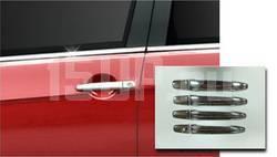Декоративные накладки на внешние ручки дверей из нержавеющей стали на Mitsubishi Outlander XL, Lancer 10, ASX, Peugeot 4007, Citroen C‐crosser