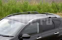 Алюминиевые серебристые продольные рейлинги на крышу Nissan Qashqai