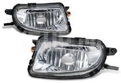 Передние противотуманные прозрачные фары на Mercedes W210, R129, R170 SLK, W208, W202