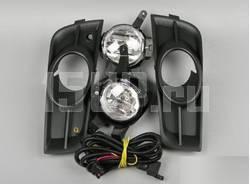 Передние противотуманные фары с рамками и проводами на Chevrolet Cruze