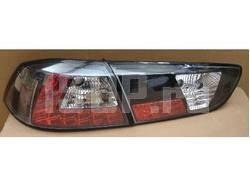 Фонари задние светодиодные красно-черные на Mitsubishi Lancer 10