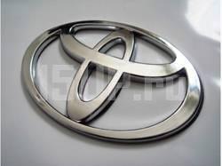 Хромированная эмблема Toyota 120x81 мм