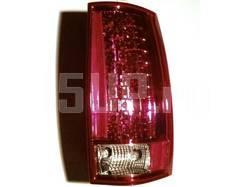 Фонари задние светодиодные красно‐хромированные на Chevrolet Tahoe, Suburban, GMC Yukon, Denali