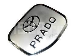 Накладка на лючок бензобака из нержавеющей стали с надписью Prado на Toyota Land Cruiser Prado 120