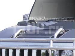 Ручки на капот из нержавеющей стали на Hummer H2