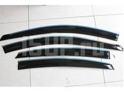 Темные дефлекторы окон, ветровики в стиле Mugen на Toyota Camry V50