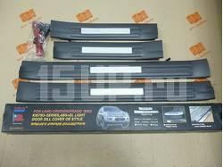 Пластиковые накладки порогов дверных проемов с подсветкой Toyota Land Cruiser Prado 120