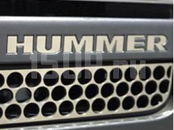 Надпись из нержавеющей стали на передний бампер Hummer H3