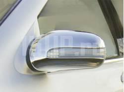 Хромированные пластиковые накладки на боковые зеркала Mercedes W220