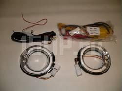 Рамки противотуманных фар с подсветкой DRL и рулевым диммером на Toyota Land Cruiser Prado 150
