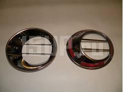 Nissan Qashqai (2006-2012) хромированные накладки на фонари заднего бампера, комплект 2 шт.
