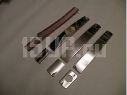 накладки на ручки дверей из нержавеющей стали на Nissan Qashqai