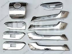 Накладки панелей салона, хромированные, комплект 9 предметов на Toyota Land Cruiser Prado 150