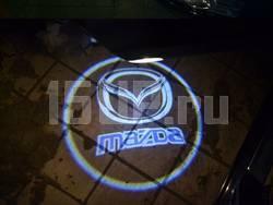 Беспроводной лазерный проектор логотипа Welcome, в корпусе с автономном питанием, срабатывание при открывании двери