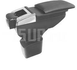 Черный раздвижной кожаный подлокотник с бардачком и с подстаканниками на Chevrolet Cruze
