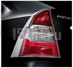 Хромированные декоративные накладки на задние фонари Ford Focus седан