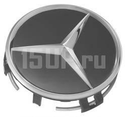 Крышки ступиц колеса черные с логотипами Mercedes