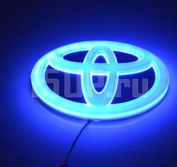Светящаяся эмблема Toyota на решетку радиатора