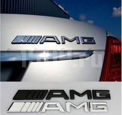 Табличка AMG хромированная на крышку багажника автомобилей Mercedes‐Benz, 190х21 мм
