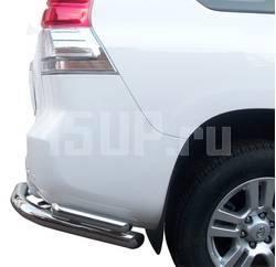 Угловая защита заднего бампера на Toyota Land Cruiser Prado 150