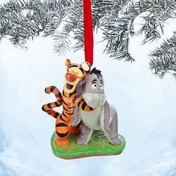 Disney Елочная игрушка Тигруля с осликом Иа