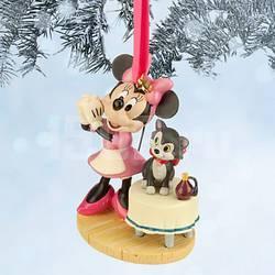 Disney Елочная игрушка Минни с котиком