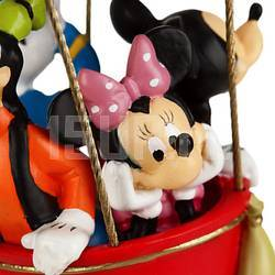 Елочная игрушка Микки, Минни, Гуффи и Доннальд Дак на воздушном шаре Микки Маус Клуба
