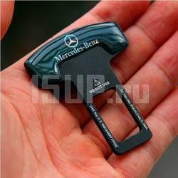 Лакированная вставка в замок ремня безопасности с логотипом Mercedes Benz