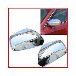 Хромированные декоративные накладки на боковые зеркала Toyota Camry 40, Corolla, Vios, Yaris