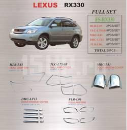 Декоративные наружные накладки на Lexus RX330