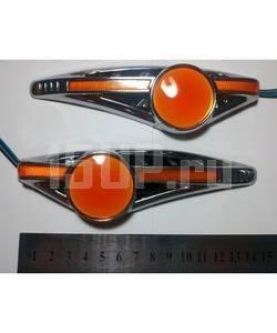 светодиодные повторители поворотов на крылья со светящимся логотипом Toyota