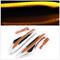 Универсальные желтые светодиодные повторители поворотов на крылья стиль 350Z